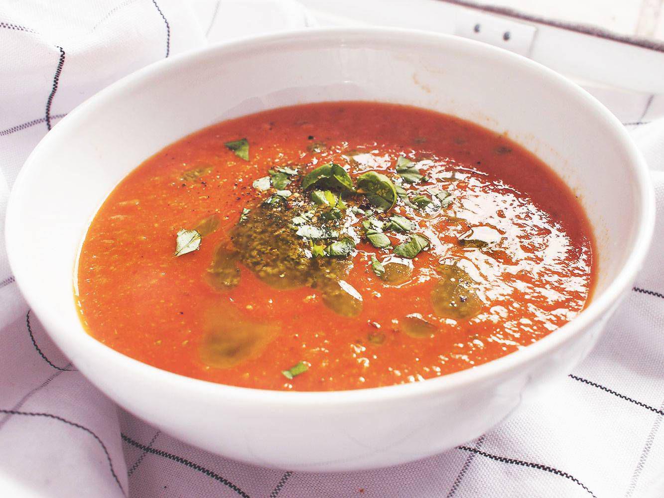 Zupa krem ciecierzyca & pomidory